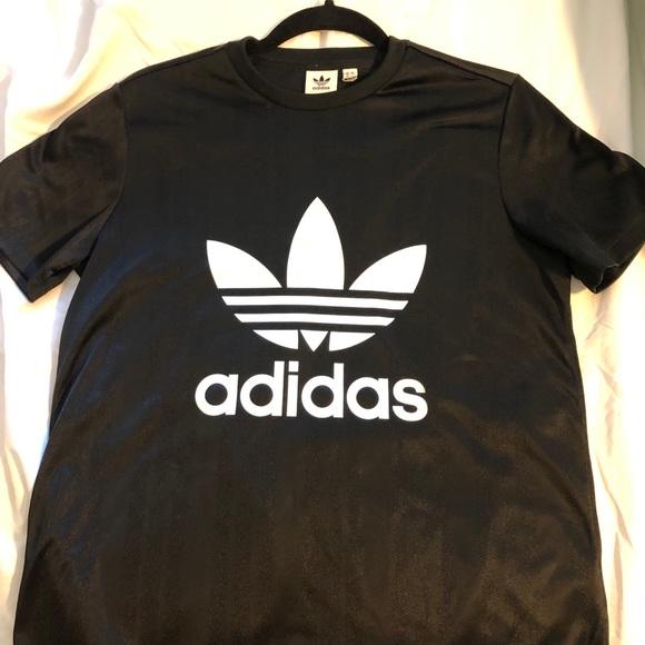 adidas Tops - Adidas black trefoil tees